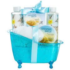 oceanside breeze tub bath spa gift set freida joe oceanside breeze tub bath spa gift set