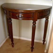 white half moon table console table design wooden half moon console table with drawers