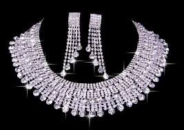 earring necklace sets cheap images Very elegant czech rhinestones wedding necklaces earrings set jpg