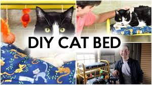 diy cat bed thrift store diy idea youtube