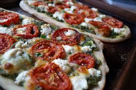 cilantro almond pesto roasted tomato u0026 ricotta pizza cook at