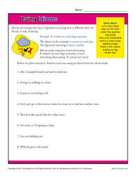 using idioms 4th and 5th grade worksheets