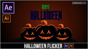 halloween pumpkin flicker graphics after effects u0026 illustrator