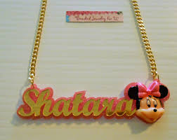 name plate earrings minnie mouse 3d nameplate beaded jewelry for u by tara online