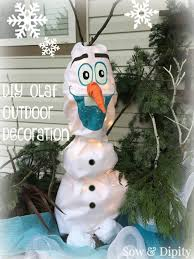 diy olaf outdoor decoration