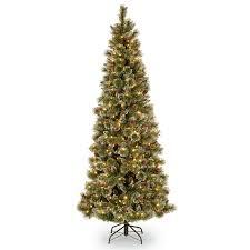 the holiday aisle glittery bristle 6 5 u0027 green pine artificial