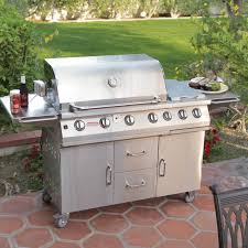 Bull Bbq Outdoor Kitchen Bull 7 Burner Premium Bbq Grill Cart Hayneedle