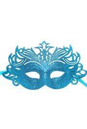 teal masquerade masks glittered plastic turquoise masquerade mask 11in wide x 6in