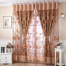 Sheer Swag Curtains Valances 250 Cm X 95 Cm Flower Tulle Door Window Curtain Drape Panel Sheer