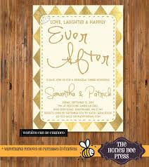 rehearsal dinner invitation gold foil design laughter