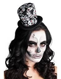 comment faire un maquillage de squelette mini chapeau haut de forme squelette femme halloween deguise toi