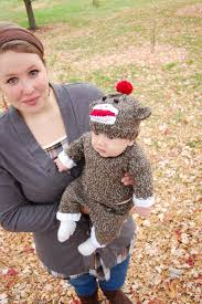 sock monkey costume happy from the sock monkey knittybutton