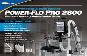 power flo pro 2800 airless paint sprayers homeright