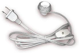 electric cord with light bulb l cord sets with socket switch and molded plug spt 1 wire