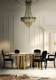 eclectic dining room with chandelier by nina magon zillow digs
