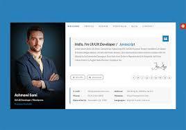 Html Resume Templates 10 Free Professional Html U0026 Css Cv Resume Templates 50resume Html