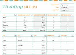 wedding gift lists wedding gift list template wedding templates