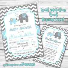 elephant baby shower invitation blue elephant invitation boy