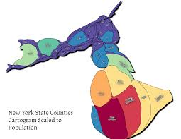 New York State Counties Map by Map Nys Counties Population Cartogram U2013 Andy Arthur Org