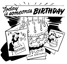 five most common birthday greetings written on