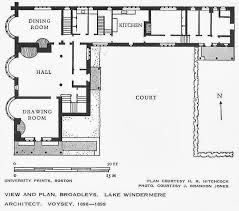 plan of broadleys lake windermere cumbria 1898 c f a voysey