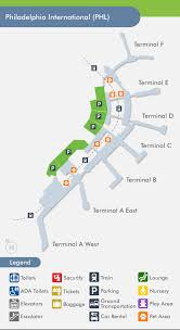 philadelphia international airport map philadelphia airport phl terminal map