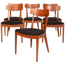 set of six kipp stewart for drexel walnut u0027declaration u0027 dining