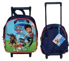 zainetto trolley paw patrol bambini dai 3 ai 5 anni