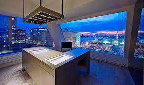 modern penthouses modern wide glasses new york city cool modern penthouses with cream