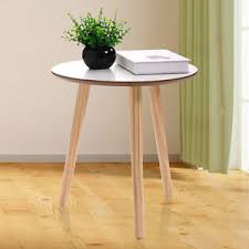 modern round end table three legs modern round coffee end table pine wood tea table white