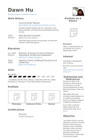 Education Resume Sample by Relief Teacher Resume Samples Visualcv Resume Samples Database