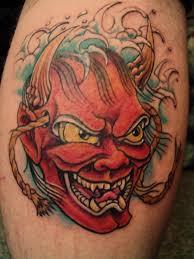 best kabuki mask tattoo on bicep tattooshunter com