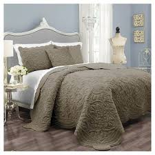 Skirted Coverlet Taupe Coverlet King Target