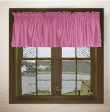 Fuchsia Pink Curtains Solid Pink Fuchsia Color Valance In Many Lengths Custom Size