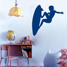 compare prices on surfing stickers free online shopping buy low dsu home decoration art vinyl sticker sport surfboarder surfing wall sticker wave sports kids room home
