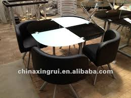 4 Seat Dining Table And Chairs Compact Artistic Stunning Glass Top Dining Room Sets