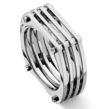 mens rings bands images Titanium mesh men 39 s band ring jpg