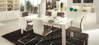 Decorative Contrasting Black Or White Contemporary Dining Room Set - White modern dining room sets