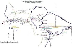Colorado Trail Maps by The Overland Trail Map Of Julesburg To Ft Bridger Last Updated