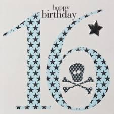 boys 16th birthday card claire giles happy 16th birthday blue