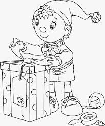 xmas coloring pages noddy christmas colouring page navidad