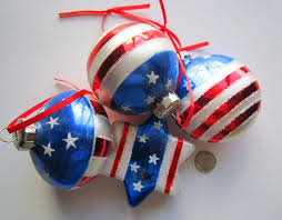 patriotic glass ornaments patriotic ornaments white blue