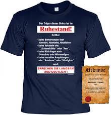 lustige sprüche rente t shirt träger ist im ruhestand lustiges spruch motiv shirt