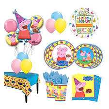 peppa pig birthday the ultimate 16 guest 94pc peppa pig birthday party supplies