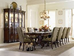 hooker dining room table 7 piece double pedestal dining table set in cherry ash burl finish