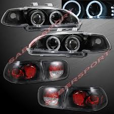 ebay honda civic parts 92 95 honda civic 2dr coupe halo projector headlights w led