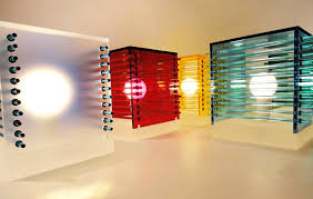 Cool Interior Lighting Design Of Cubes Of Color Table Lamp By - Home interior lighting