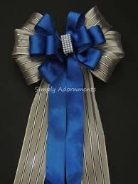 silver and royal blue wedding blue silver christmas decor royal blue silver wedding pew bow