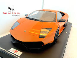 Lamborghini Murcielago Orange - 1 18 mr lamborghini murcielago lp670 4 sv orange u2013 art of speed models