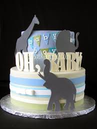 giraffe baby shower cakes giraffe lion and elephant baby shower cake the cake attic